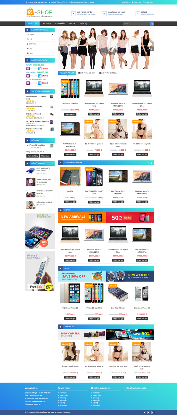 Theme wordpress Shop Online chuẩn SEO