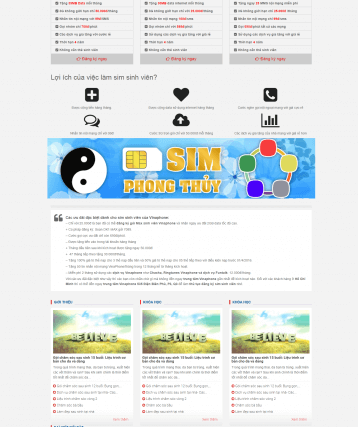 Theme wordpress Sim số