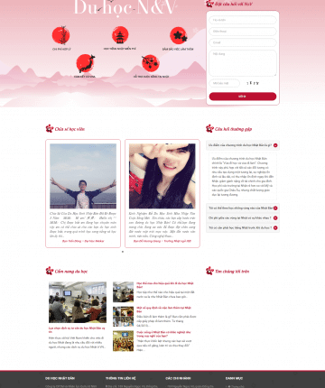 Theme wordpress Du Học