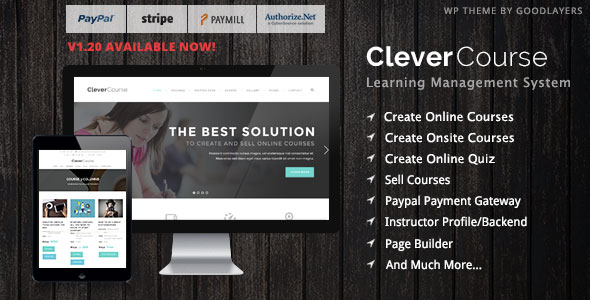 Clever Course V1.27 - Learning Management Sytem wordpress theme Free