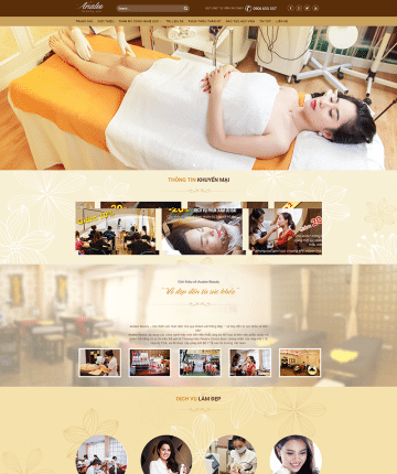 Mẫu theme wordpress SPA – DV09